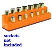 Mechanics Time Saver 1484 3/8 in. Dr 14 Hole Solar Orange Impact Socket Holder