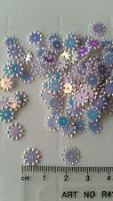 150 round flower white holographic sequin shine craft art fun card making flat