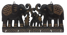 Wooden Wall Keys Elephants Key Holder Stand Home Kitchen Decor Gift Item