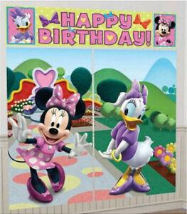 Disney MINNIE MOUSE & Daisy Duck Scene Setter birthday party wall photo backdrop