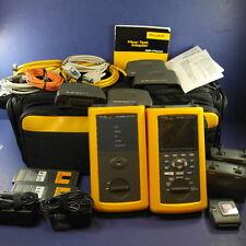 Fluke Networks DSP-4300 Cable Analyzer w Smart Remote & DSP-FTA410 Fiber