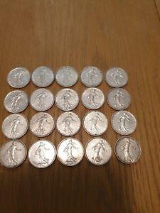 Lot 5 francs semeuse argent