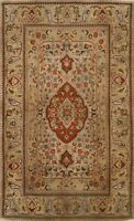 Vintage Floral Traditional Oriental Area Rug Wool Hand-knotted 4x6 Foyer Carpet