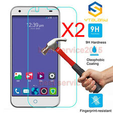 2Pcs 9H Premium Tempered Glass Film Cover Screen Protector For ZTE Blade S6 5.0""