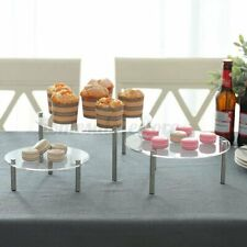 3 Tier Acrylic Cake Cupcake Stand Rack Wedding Party Dessert Display Holder