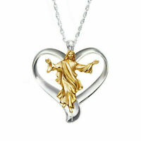 925 Silver Portrait Pendant 18K Gold Filled Chain Choker Necklace Wedding Gift