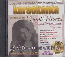 Jenni Rivera Joyas Prestadas Banda Vol 127 Karaokanta Karaoke CD Nuevo Sealed