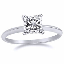 Wedding Ring 925 Sterling Silver Princess Simulated Diamond Square Solitaire