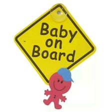 NEW BRIGHT BABY ON BOARD CHILD CAR SAFETY REAR WINDOW WARNING SIGN BADGE