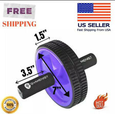 Purple Abdominal Exercise Ab Wheel Roller With Foam Handles Double Wheel