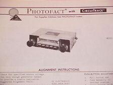 1974 KRACO AM RADIO SERVICE MANUAL KR-1110 CHEVROLET FORD CHRYSLER DODGE BUICK