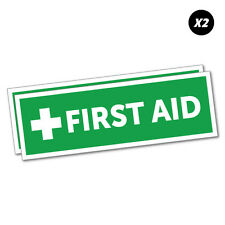First Aid Sticker Decal Safety Sign Car Vinyl #5529K