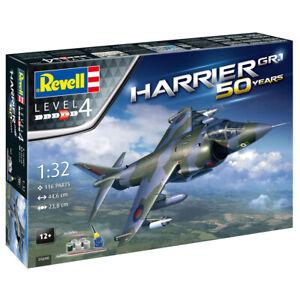 Revell Harrier GR.1 50th Anniversary Model Kit Gift Set - Scale 1:32 - 05690