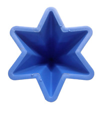 Pointed tapered star plastic candle mould. Makes candles from 3 to 9cm high