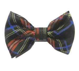 Unisex Tartan sotish Cappello con capelli Bretelle Cravatta Papillon Costume Accessori