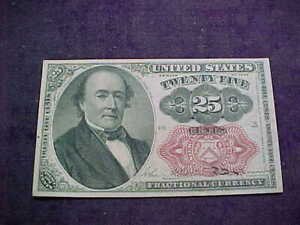 1874 Robert Walker 25 Cents Fractional Currency - Fr.1309 5th Issue, EXCELLENT C