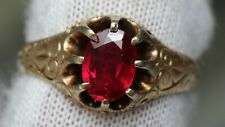 Antique 10K Gold Victorian Ring Claw Mount Setting