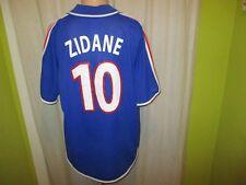 """Francia """"F.F.F."""" adidas WM cualificación camiseta 2000/01 + nº 10 zidane talla XL"""