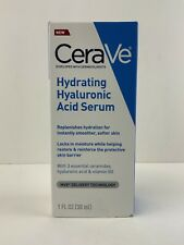 New CeraVe Hydrating Hyaluronic Acid Face Serum 1fl oz 30ML - Fast Shipping