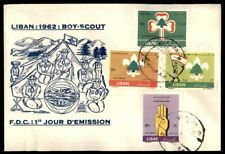 Mayfairstamps LEBANON FIRST DAY COVER 1962 BOY SCOUTS COMBOwwe 21165