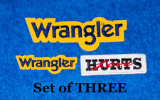 I THREE Classic Rodeo Hat Patches -Wrangler-bullriding-NEW-NFR