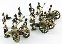 28mm Metal French? Napoleonic Gun Artillery Battery - Painted (x3 Sets)