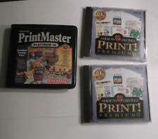 Lot of 3 Print Software CDs: PrintMaster Platinum 10, Print! Premium 3 (CD 1&2)