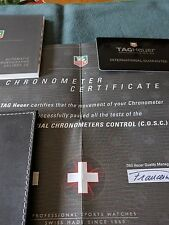 Cronografo Tag Heuer documenti originali automatic chronographes calibre 36