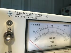 Hewlett Packard 333A Audio Distortion Analyzer w/ OPT 1 FULLY TESTED!!!!