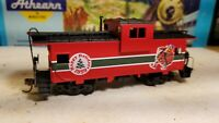 HO Athearn Christmas Holiday caboose car, for train set, New Santa elf 1999