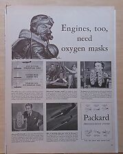 1943 magazine ad for Packard  - WW2 ad, Pilots, Mustang Engines need Oxygen mask