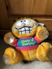 More details for garfield happy birthday stuck on you cuddly toy - dakin - 1980s