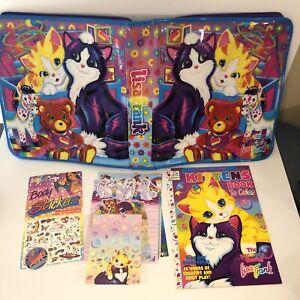 Vintage  Lisa Frank 90s Zippered 3 Ring Binder Case Cats Kittens Bear Horse VTG