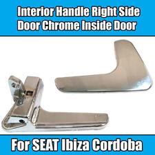 1x Interior Handle For SEAT Ibiza Cordoba Right Side Door Chrome Inside Door