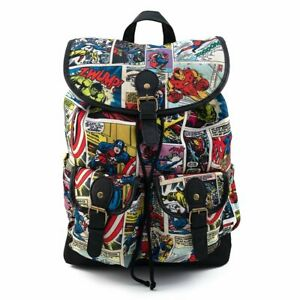 Marvel Comic Strip Slouch Backpack by Loungefly - New, With Tags