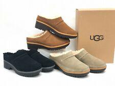 UGG Australia Lynwood Clog 1098749 Chestnut Black Antilope Shoes Suede Shearling