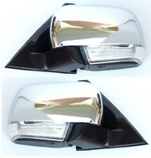 Mitsubishi Pajero Montero Shogun 2000-2014 outside wing mirrors Chrome one Set