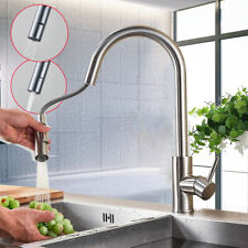 Kitchen Faucet Pull Down Sprayer Swivel Single Handle Mixer Tap Brushed Nickel