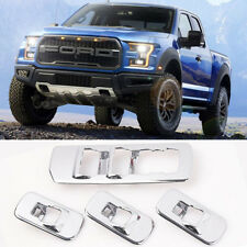 4pcs Chrome Window Lift Switch Panel Cover Trim Kit for 2015-2017 Ford F150 New