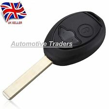 New 2 Button Remote Key Fob Case + Uncut Blade For BMW Mini Cooper + logo A22