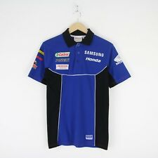 Vintage Mens Honda Team Racing Polo Shirt S Castrol Snap On Samsung F1 Blue 3016