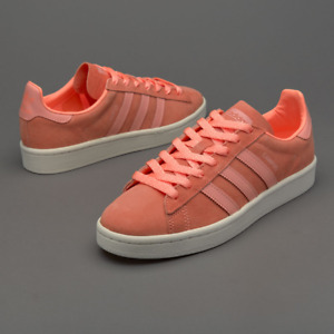 Adidas Campus Women's Trainers BB0032 Sunglow/ Salmon Casual Shoes UK 4.5 New