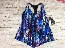 Magicsuit Swimsuit 14 Tankini Top Underwire Racerback Multi Color Print New