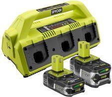 Ryobi 6-Port Super Battery Charger P1820 USB 18-Volt ONE 2 Batteries Lithium-Ion