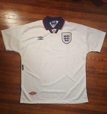 Vintage England National Team Home Soccer Jersey Umbro X-Large Official Licensed