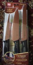 Copper Kitchen Knife Set by Copper Chef 3 Piece Non-Stick Slicer Chef & Filet