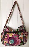 Vera Bradley On The Go Crossbody Bag Purse Va Va Bloom 2013 Floral Pinks Fushia