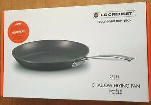 Le Creuset Shallow Frying Pan 28cm antihaft Aluminium Pfanne Flach NEU/Ovp