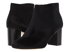 Womens Black Velvet Ankle Boots US size 6.5 Wide-Free ship to USA