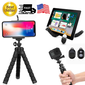 Tripod Octopus Flexible  Bluetooth Remote Universal for Iphone Samsung Phone